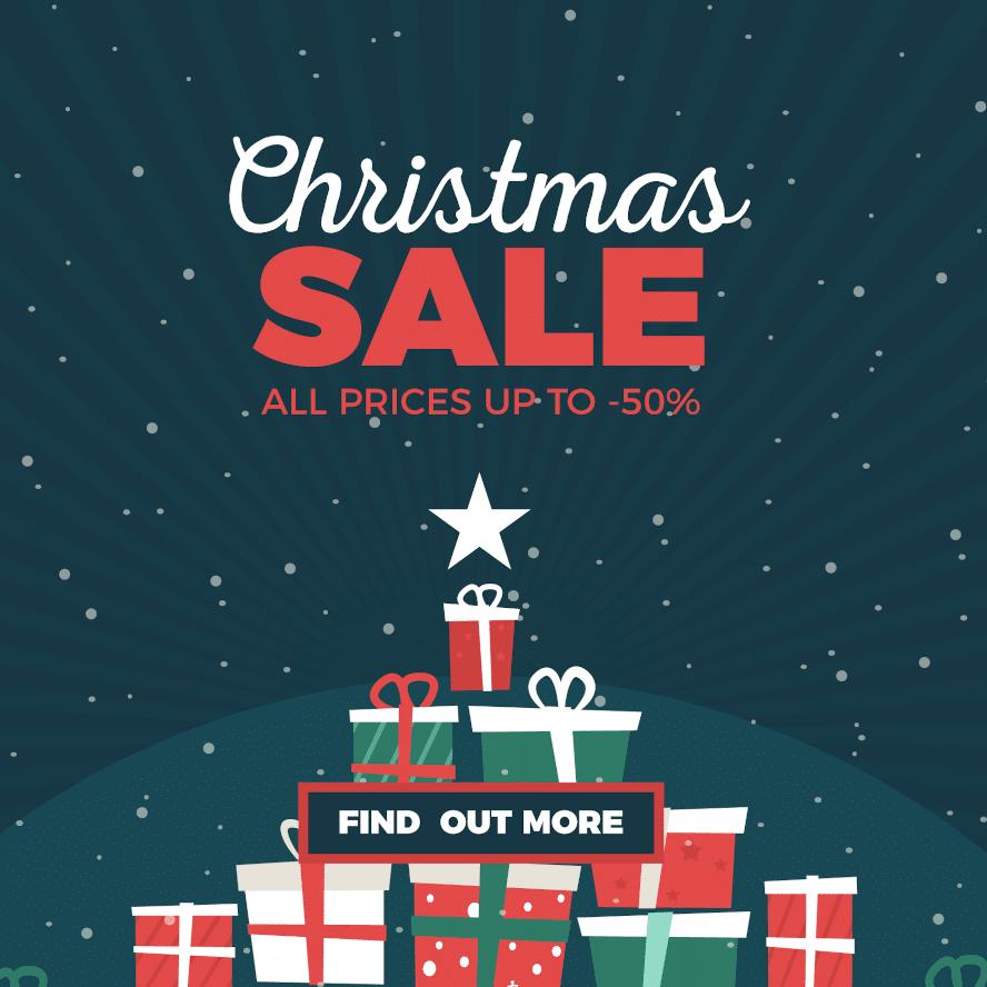 Christmas sale shopping